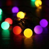 Van het LEIDENE van de Lichten van zonne LEIDENE van de Macht Kerstmis van de Bal 21FT 50 Zonne LEIDEN van de Lichten Koord van de Bol Decoratief Licht voor Binnen/Openlucht, Tuin, Partij