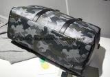 Saco grande portátil da mala de viagem do curso da capacidade do projeto dos jovens, bagagem de couro durável do plutônio/saco do trole com a correia ajustável do ombro
