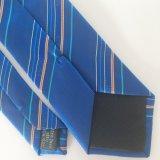 Concevoir la relation étroite L001 de collet de logo de jacquard tissée par polyester