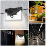 Resistente al agua IP65 30 Solar Powered LED de luz de pared exterior de la luz de seguridad del sensor PIR Super brillante 550lm Luces de jardín