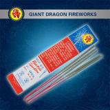 """7 """" Sparklers/fogos-de-artifício e foguetes de bambu do ouro da vara"""