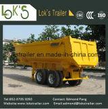 De hydraulische Semi Aanhangwagen van de Kipper van het Afval van de Grond van 2 Assen