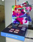 Я использую вышеупомянутый Sennheiser наушники картон кухонном столе дисплей, пользовательские всплывающие окна отображения поверхности стола