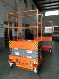 Подвижная 3.8m мини подъемный стол ножничного типа на складе технического обслуживания