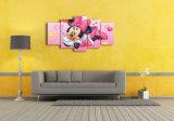[هد] طبع رسم متحرّك [مينّي مووس] صورة زيتيّة جدار [أرت كنفس] [برينت رووم] زخرفة طبعة ملصقة صورة نوع خيش [مك-079]