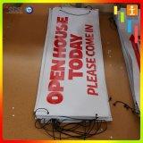 Освещенная контржурным светом Customed улица знамени гибкого трубопровода винила рекламируя знамя
