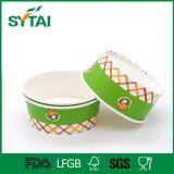 Tazones de fuente de papel impresos insignia de encargo de la ensalada disponible con las tapas claras