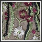 ナイロン網の刺繍のレースの花のテュルの刺繍のレース