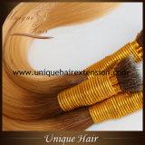 Волосы кольца Ombre Remy нарисованные двойником Nano