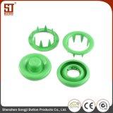 Botón simple del metal del broche de presión redondo por encargo del diente para la chaqueta