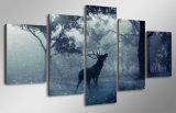 HDは雪の動物のシカの森林絵画キャンバスの版画室の装飾プリントポスター映像のキャンバスMc104を印刷した