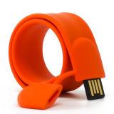 Pulseira de silicone bofetada PVC USB Drive USB da Pulseira de USB