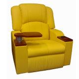 Cine asiento reclinable de cuero real eléctrico Teatro Cine Sofá Silla (VIP 3)