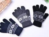 多彩なタッチ画面のジャカード柔らかさによって編まれるアクリルの接触手袋