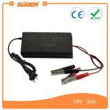 보편적인 배터리 충전기, 휴대용 자동차 배터리 충전기 (SON-2410B)가 Suoer AC DC에 의하여 24V 10A 집으로 돌아온다