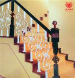 Materiales de construcción europeos de moda Hogar de hierro forjado cerca de la escalera