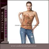 Корсет Bustiers Steampunk женское бельё сексуальных женщин латекса кожаный для оптовой продажи (TA21651)