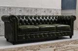 Sofà di cuoio della mobilia del salone retro