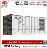 leises schalldichtes elektrisches Dieselgenerator-Set des Behälter-1000kw angeschalten von Ccec Cummins
