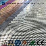 Обувная кожа PVC аттестации SGS новая сплетенная кожаный
