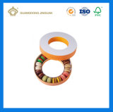 Macaronの包装のための多彩な印刷のカスタムハンドメイドの堅い紙箱(PVCプラスチック皿と)
