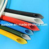 Chemises enduites de fibre de verre en caoutchouc de silicones de certificat d'UL pour le harnais de fil