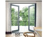 Пушпульная нутряная алюминиевая дверь Casement с двойным Tempered стеклом