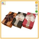 Подгонянная коробка подарка бумаги картона логоса упаковывая