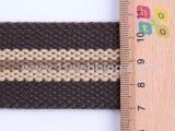 Streifen-Polyester-Baumwolle gesponnenes gewebtes Material für Riemen-/Beutel-/Kleidungs-/Kleid-gewebtes Material