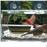 Alimentatore acrilico su ordinazione dell'uccello della finestra con la forte tazza eccellente di aspirazione
