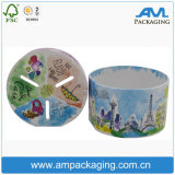 Round Tube Laminated Paper Custom Cylindrical Coin Storage Box