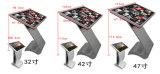 LCD 위원회를 서 있거나 Touchscreen 또는 영상 선수 접촉 스크린 간이 건축물을 광고하는 32 인치 지면