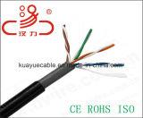 Câble d'acoustique de connecteur de câble de transmission de câble de caractéristiques de câble d'U/UTP Cat5e CCA 4X2X0.5 100MHz/Computer