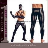 Мужчины из натуральной кожи черного цвета глянцевой ослабление Leggings брюки (TCJN935)