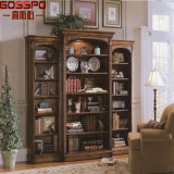 Bibliothèque en bois de modèle d'acajou solide américain de type (GSP18-012)