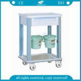 AG-CT002 con una carretilla material del hospital del ABS del cajón