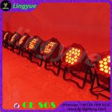 luces ULTRAVIOLETA de la IGUALDAD de la etapa 15W LED del profesional RGBWA de 18PCS DMX