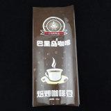 증거 물개를 가진 상한 알루미늄 호일 1회분의 커피 봉지