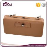 Самый последний большой бумажник для девушок, бумажник телефона пасспорта PU кожаный RFID с конструкцией способа