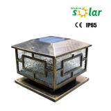 Im Freiengarten-Dekoration-Quadrat-beleuchtet Solarzaun-Pfosten LED