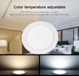 Control &2.4GHz 15W sin hilos RGB+CCT LED Downlight de WiFi