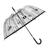 Parapluie transparent clair en plastique promotionnel avec l'impression de logo