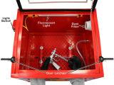 взрывное устройство песка перчаток инструмента воздуха шкафа Sandblast 90L Benchtop