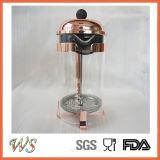 Pressa calda del caffè della pressa del francese dell'acciaio inossidabile del creatore di caffè del rame di vendita di Wschsy007 Amazon