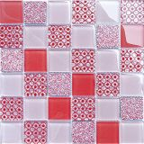 Mosaico cristalino de cristal del color mezclado