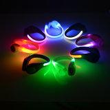 Farben-bereift blinkender Silikon-Sicherheits-warnender Klipp der Förderung-8 Licht
