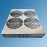 アルミニウムはファン箱の蓋が付いているひれ脱熱器を削る