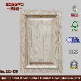 Rivestimento naturale sollevato portello di legno solido del comitato dell'armadio da cucina (GSP5-009)