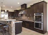 Gabinetes de cozinha manchados do carvalho vermelho de qualidade superior