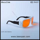 Justierbarer Rahmen der grünen Schutzbrillen /266nm 355nm 515nm, 532nm /V der Lasersicherheits-Glas-/Laser. L.T 50% mit Spant 6